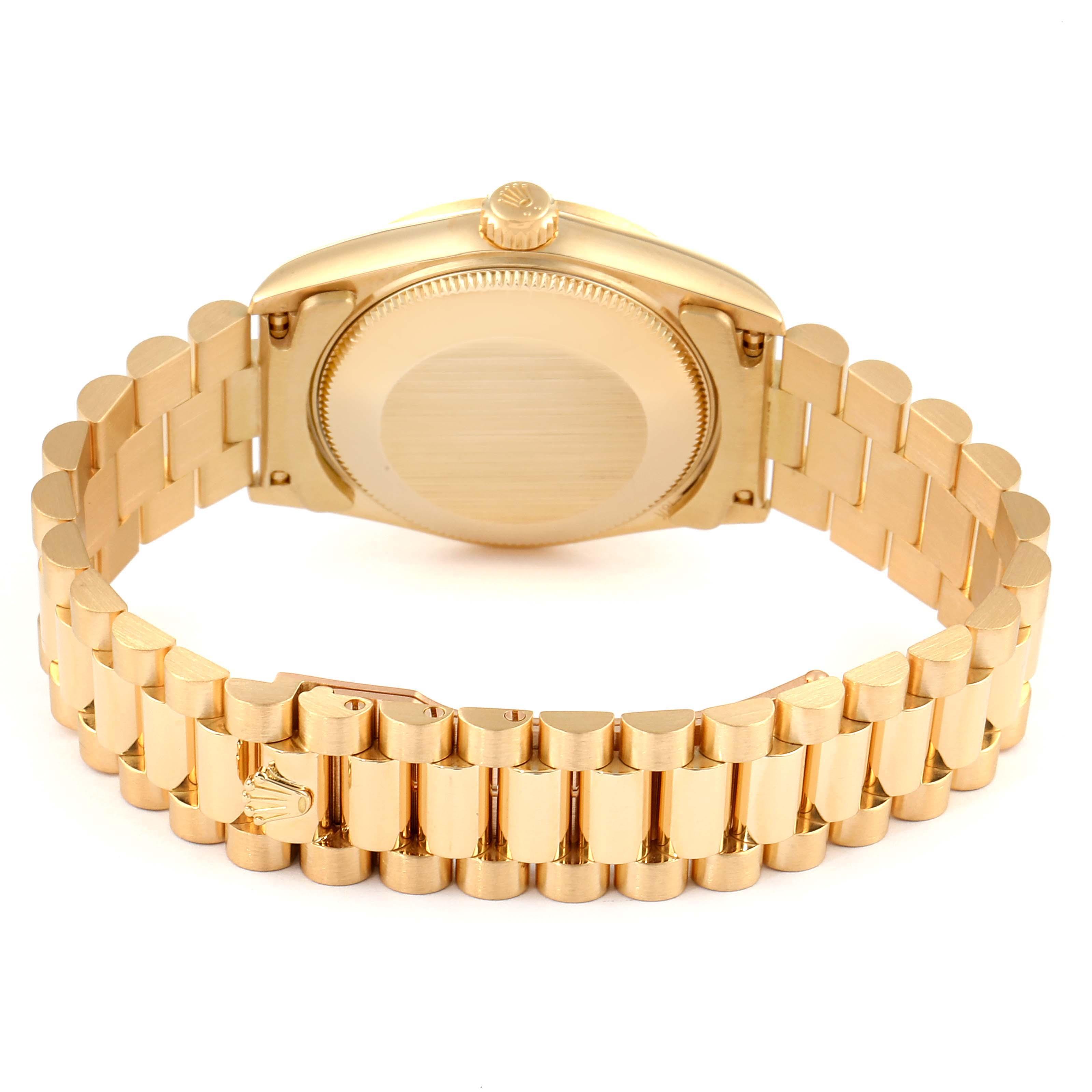 Rolex President Datejust 31 Midsize 18K Gold Diamond Watch 68278 SwissWatchExpo