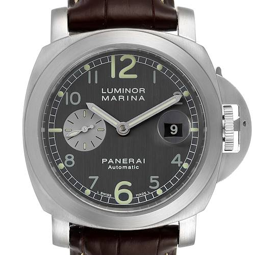 Photo of Panerai Luminor Marina Firenze 44mm Steel Mens Watch PAM00086 Box Papers