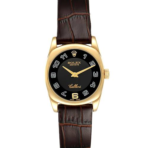 Photo of Rolex Cellini Danaos Yellow Gold Black Dial Ladies Watch 6229