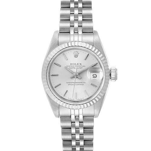 Photo of Rolex Datejust Steel White Gold Jubilee Bracelet Ladies Watch 69174 Box Papers
