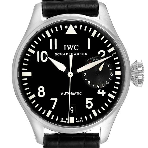 Photo of IWC Big Pilots 46mm Black Dial Automatic Steel Mens Watch IW500401