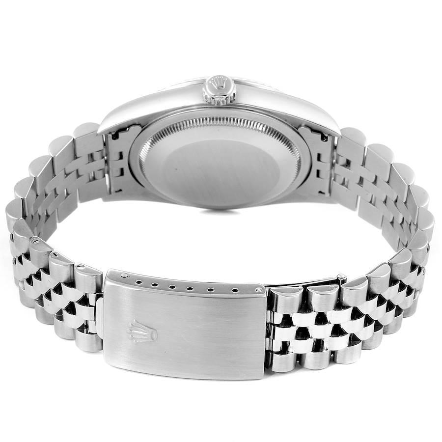 Rolex Datejust Steel White Gold MOP Diamond Mens Watch 16234 SwissWatchExpo