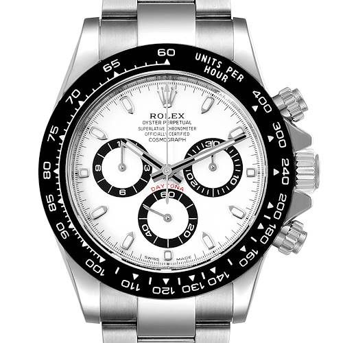 Photo of Rolex Daytona Ceramic Bezel White Dial Steel Mens Watch 116500