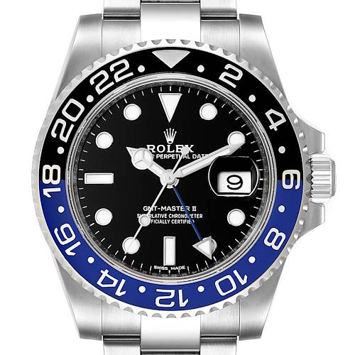 Photo of Rolex GMT Master II Batman Blue Black Ceramic Bezel Steel Watch 116710