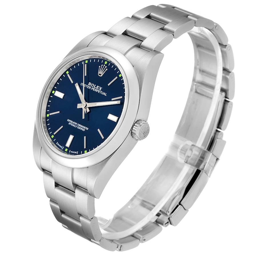 Rolex Oyster Perpetual 39mm Automatic Steel Mens Watch 114300 SwissWatchExpo