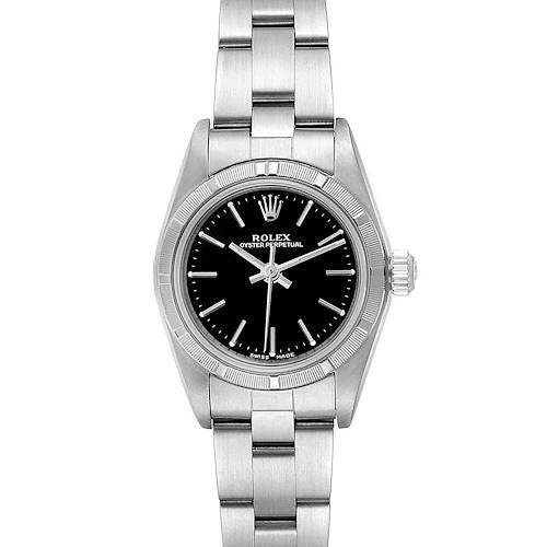 Photo of Rolex Oyster Perpetual NonDate Black Dial Ladies Watch 76030