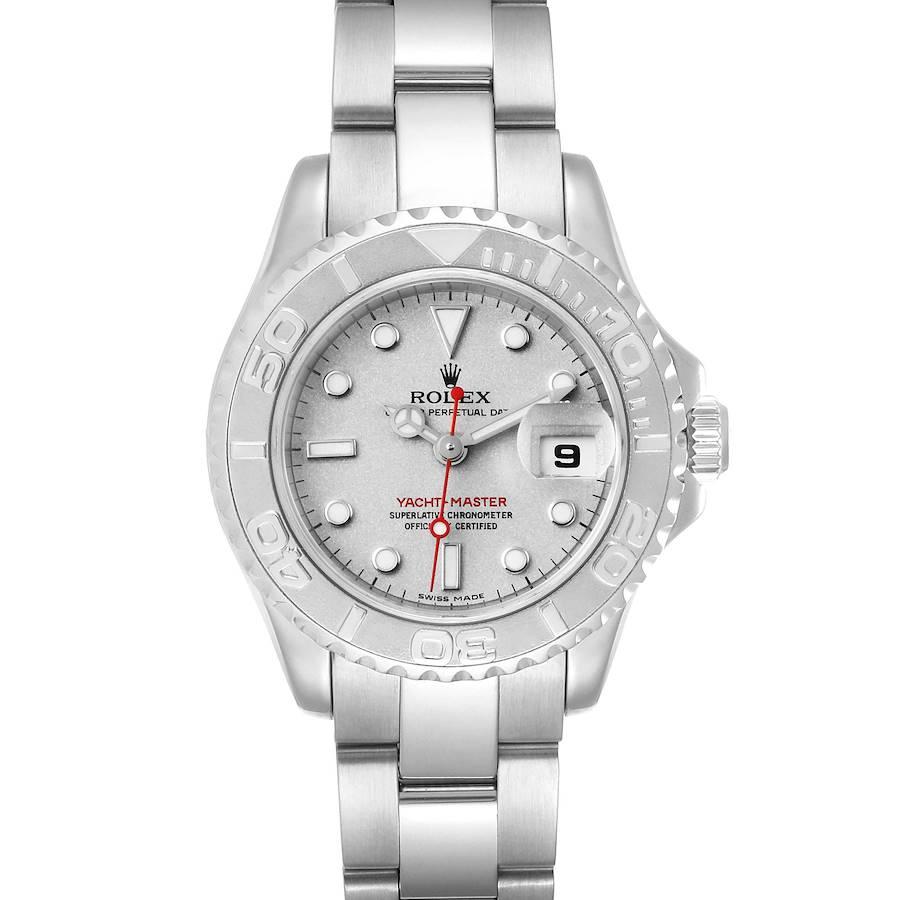 Rolex Yachtmaster 29 Steel Platinum Ladies Watch 169622 SwissWatchExpo