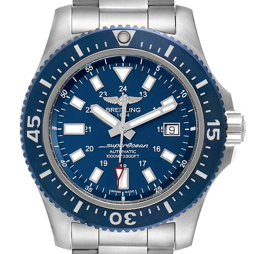 Breitling Aeromarine Superocean 44 Blue Dial Watch Y1739310 Box Papers