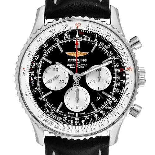 Photo of Breitling Navitimer 01 46mm Black Steel Dial Mens Watch AB0127