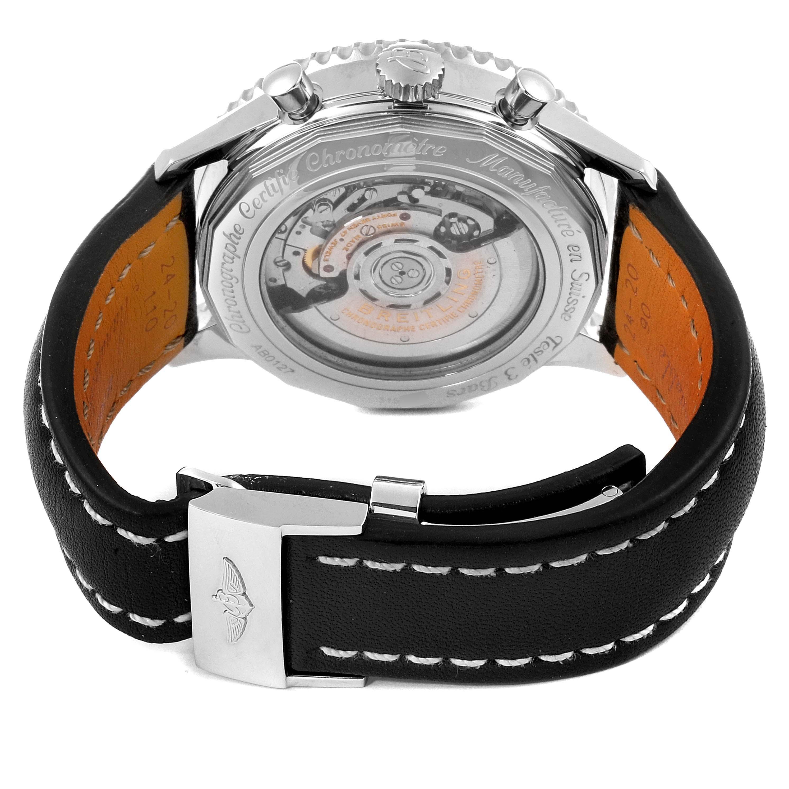 Breitling Navitimer 01 46mm Black Steel Dial Mens Watch AB0127 SwissWatchExpo