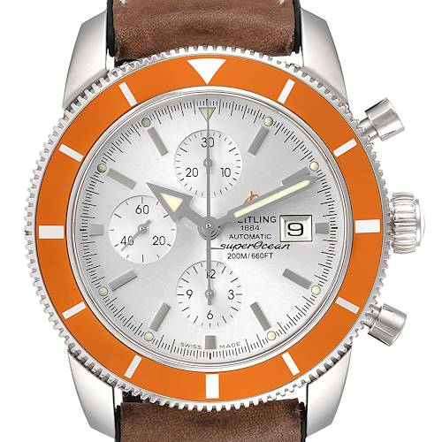 Breitling SuperOcean Heritage 46 Chrono Silver Dial Mens Watch A13320