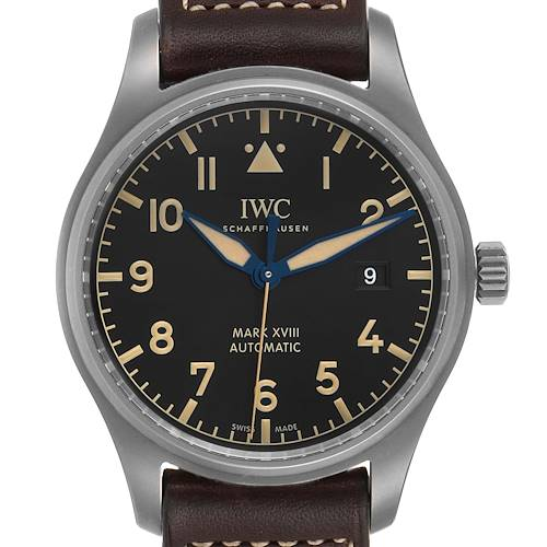 Photo of IWC Pilot Mark XVIII Heritage Titanium Mens Watch IW327006
