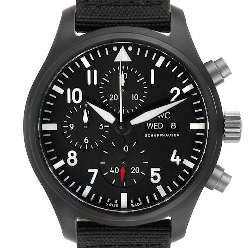 Photo of IWC Pilot Top Gun Chronograph Black Dial Mens Watch IW389101 Box Papers