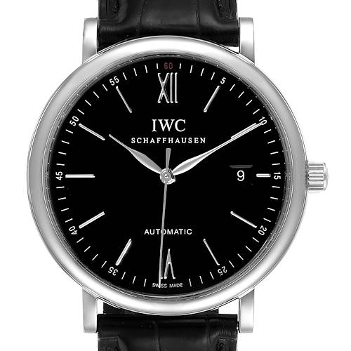 Photo of IWC Portofino Black Dial Automatic Steel Mens Watch IW356502