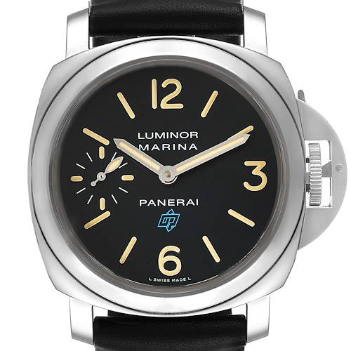 Photo of Panerai Luminor Acciaio Logo 44mm Steel Mens Watch PAM00631 Box Papers