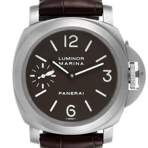 Photo of Panerai Luminor Marina 44mm Titanium Mens Watch PAM00118 Box Papers