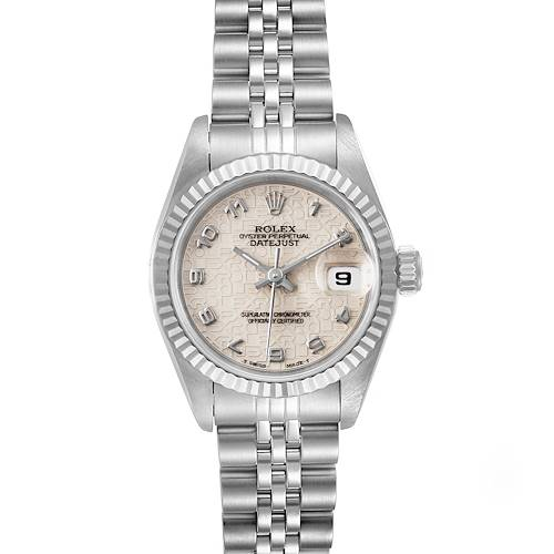 Photo of Rolex Datejust 26 Steel White Gold Anniversary Dial Ladies Watch 69174 Papers