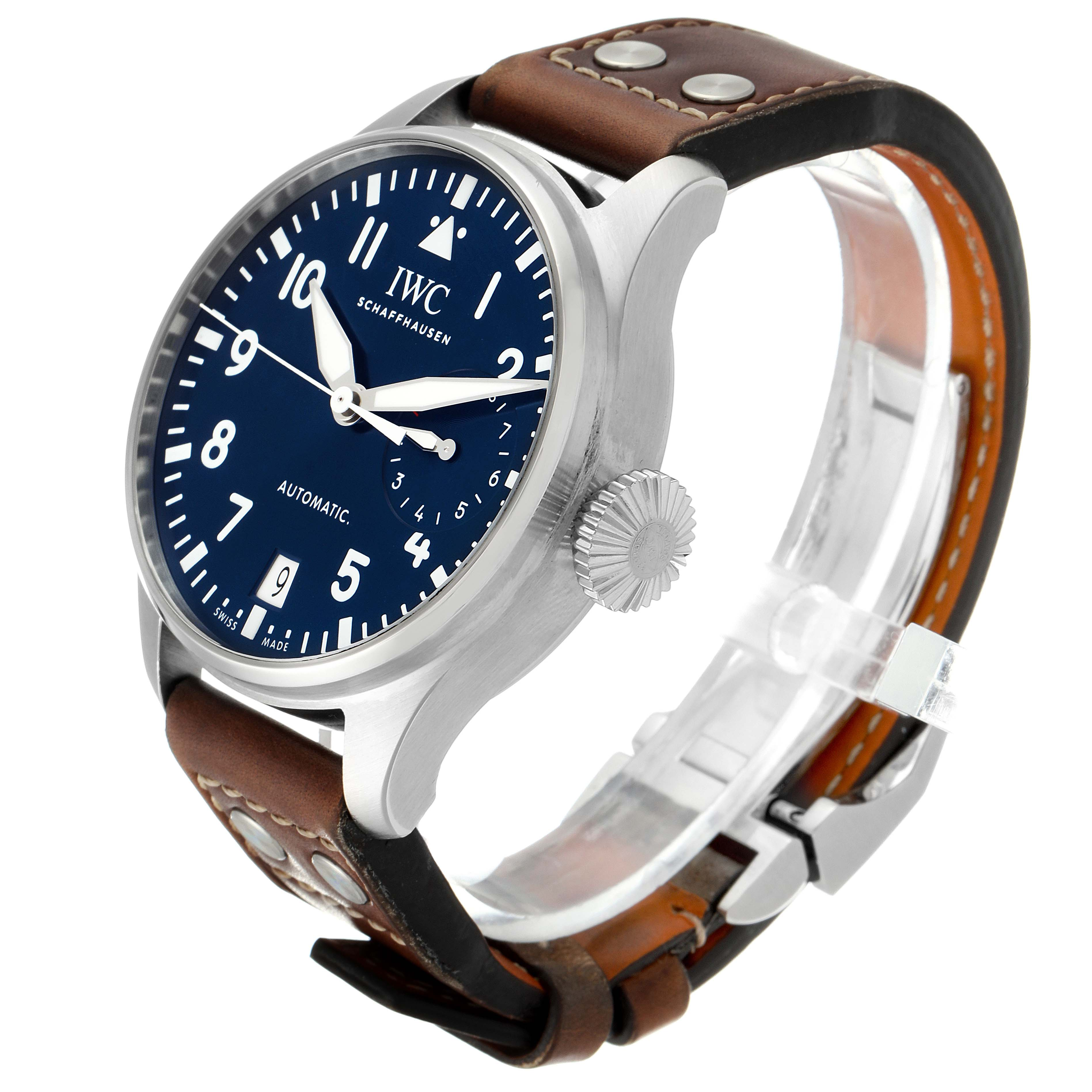 IWC Big Pilots 46mm Le Petit Prince Steel Mens Watch IW500916 Box Papers SwissWatchExpo