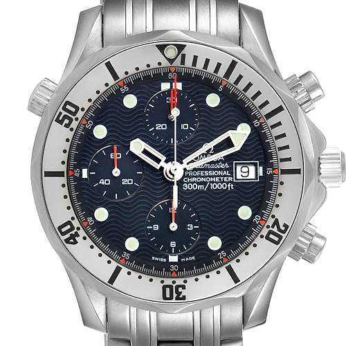 Photo of Omega Seamaster Chronograph Blue Dial Steel Mens Watch 2598.80.00 Card