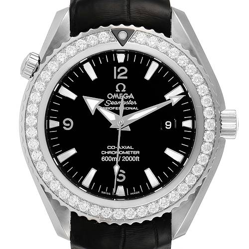 Photo of Omega Seamaster Planet Ocean Diamond Watch 222.18.46.20.01.001 Box Card