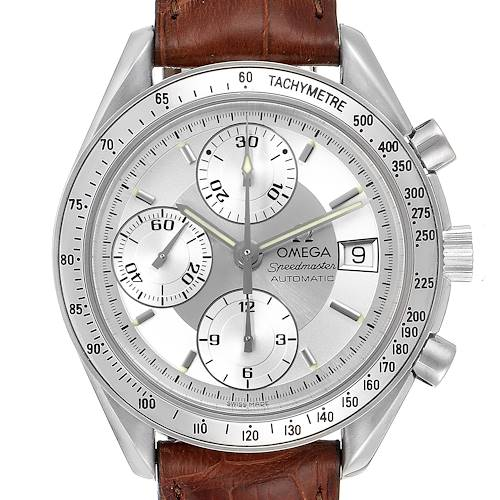 Photo of Omega Speedmaster Date Silver Dial Automatic Steel Mens Watch 3813.30.11