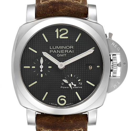 Photo of Panerai Luminor 1950 Power Reserve 3 Day GMT Mens Watch PAM00537