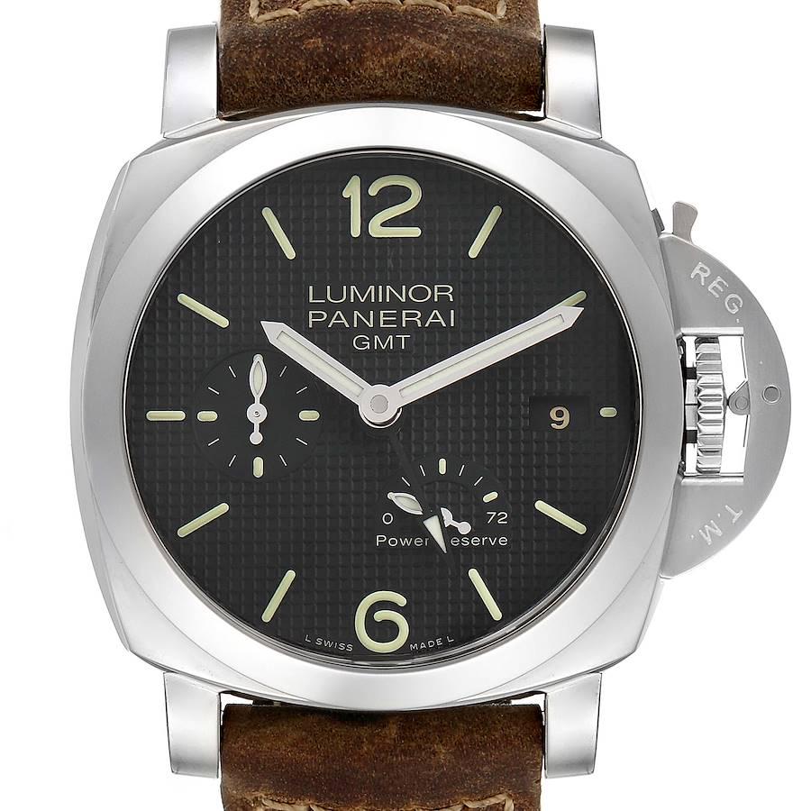 Panerai Luminor 1950 Power Reserve 3 Day GMT Mens Watch PAM00537 SwissWatchExpo