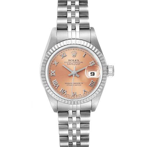 Photo of Rolex Datejust 26 Steel White Gold Salmon Dial Ladies Watch 79174