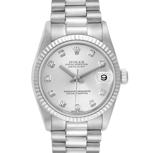Photo of Rolex President Midsize White Gold Diamond Ladies Watch 78279
