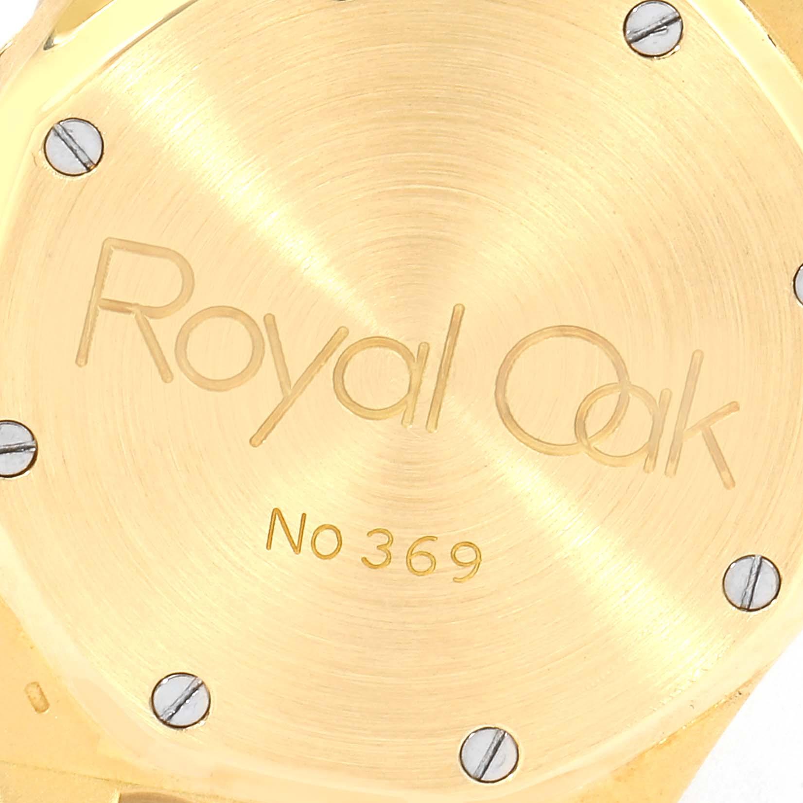 Audemars Piguet Royal Oak Yellow Gold Day Date Mens Watch 25572BA SwissWatchExpo