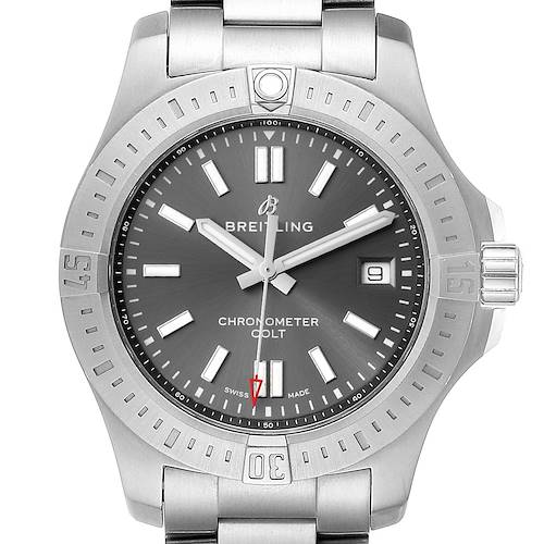 Photo of Breitling Colt Grey Dial Automatic Steel Mens Watch A17313 Box Card
