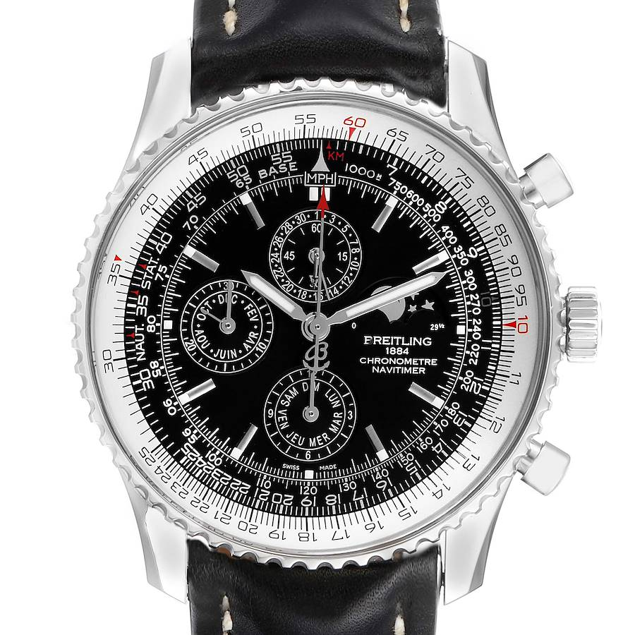 Breitling Navitimer 1461 Chrono Moonphase Limited Edition Watch A19370 Box Papers SwissWatchExpo