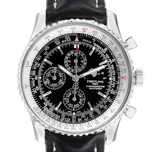 Photo of Breitling Navitimer 1461 Chrono Moonphase Limited Edition Watch A19370 Box Papers