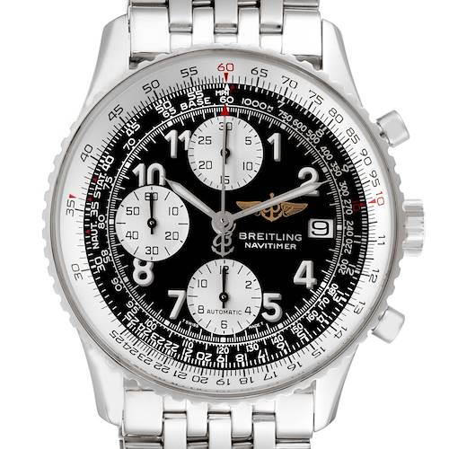 Photo of Breitling Navitimer II Black Dial Chronograph Mens Watch A13322 Box