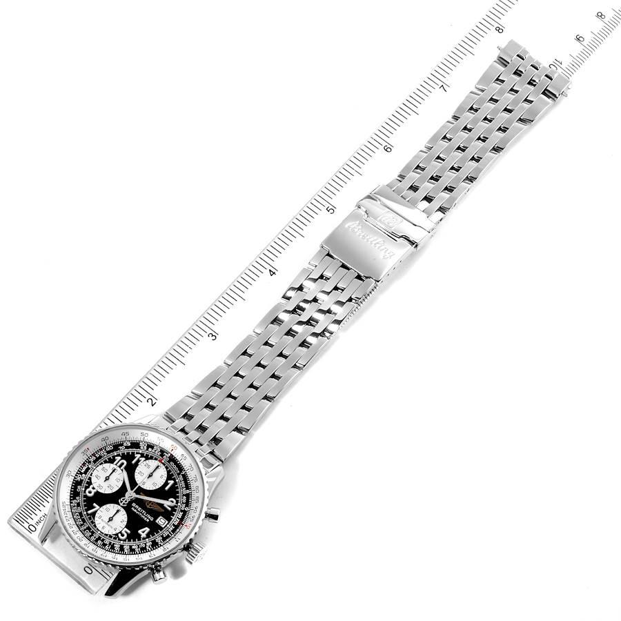 Breitling Navitimer II Black Dial Chronograph Mens Watch A13322 Box SwissWatchExpo