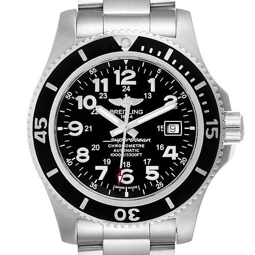 Photo of Breitling Superocean II 44 Black Dial Steel Mens Watch A17392