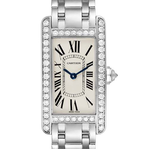 Photo of Cartier Tank Americaine 18K White Gold Diamond Ladies Watch WB7073L1