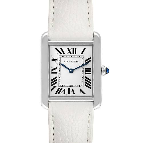 Photo of Cartier Tank Solo Steel White Strap Quartz Ladies Watch W1018255