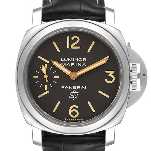 Photo of Panerai Luminor Acciaio Logo Tropical Brown Dial 44mm Watch PAM00632