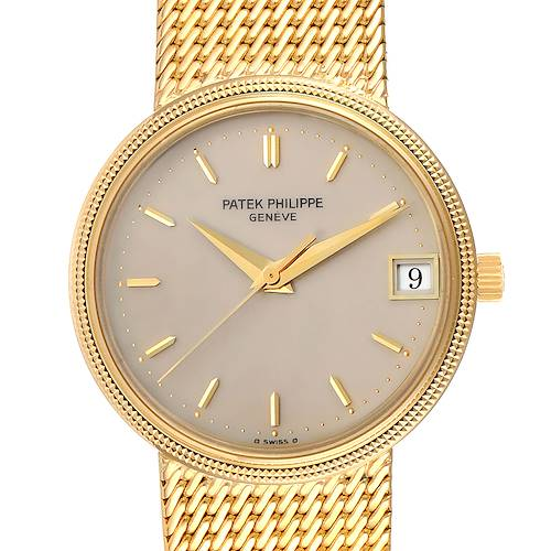 Photo of Patek Philippe Calatrava 18k Yellow Gold Automatic Mens Watch 3802