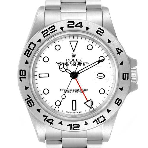 Photo of Rolex Explorer II White Dial Automatic Steel Mens Watch 16550 Box Papers
