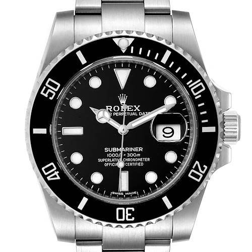 Photo of Rolex Submariner Ceramic Bezel Steel Mens Watch 116610