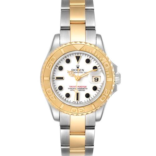 Photo of Rolex Yachtmaster 29mm White Dial Steel Yellow Gold Ladies Watch 169623