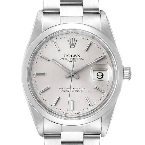 Rolex Date Stainless Steel Silver Dial Mens Watch 15200