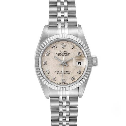 Photo of Rolex Datejust 26 Steel White Gold Anniversary Dial Ladies Watch 69174