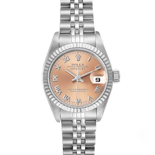 Photo of Rolex Datejust 26 Steel White Gold Salmon Dial Ladies Watch 69174 Papers