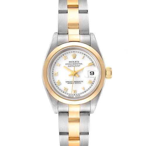 Photo of Rolex Datejust Steel Yellow Gold White Dial Ladies Watch 69163