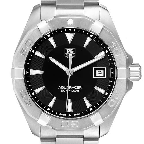 Tag Heuer Aquaracer Black Dial Steel Mens Watch WAY1110