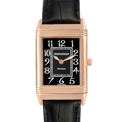 Photo of Jaeger LeCoultre Reverso Midsize Rose Gold Mens Watch 250.2.86