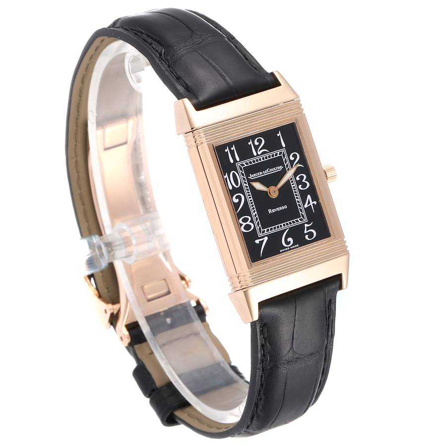 Jaeger LeCoultre Reverso Midsize Rose Gold Mens Watch 250.2.86 SwissWatchExpo